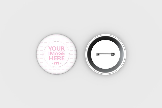 Pin Badge Design Template