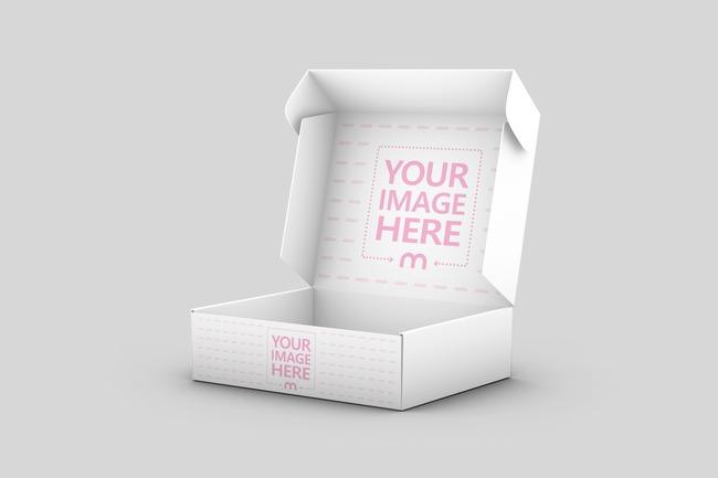 Mailer Box Inside Cover Mockup