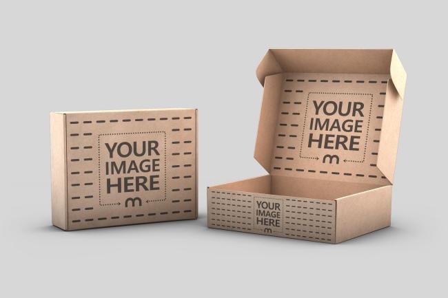 Cardboard Boxes 3D Mockup