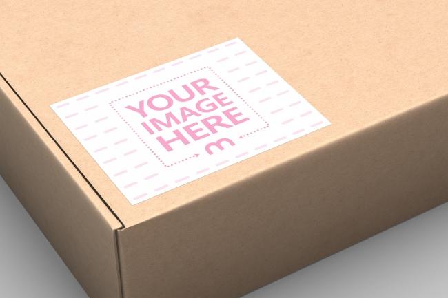 Cardboard Box Label Mockup