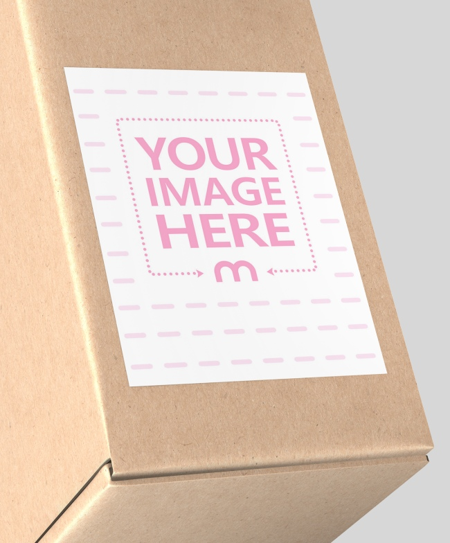 Cardboard Box Portrait Label Template