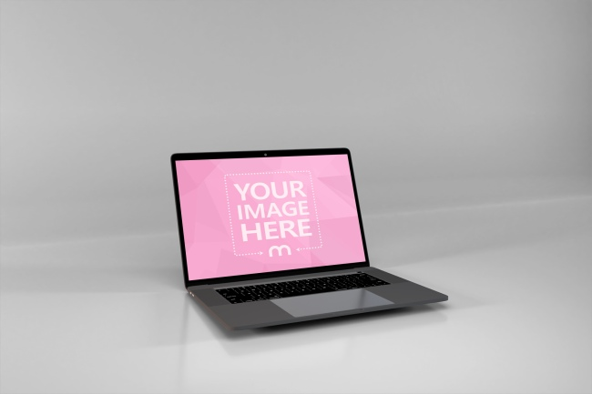 Single MacBook on the Center of View