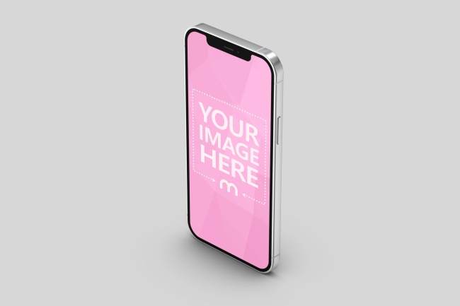 iPhone 12 Standing 3D Template preview image