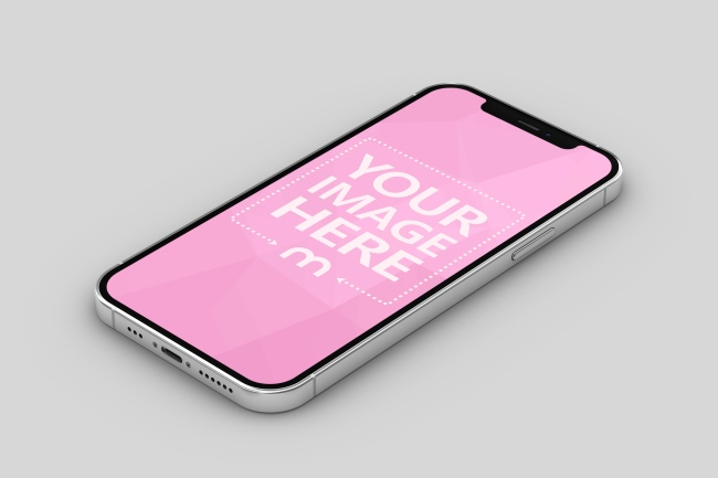 iPhone 12 Lying on Surface Mockup preview image