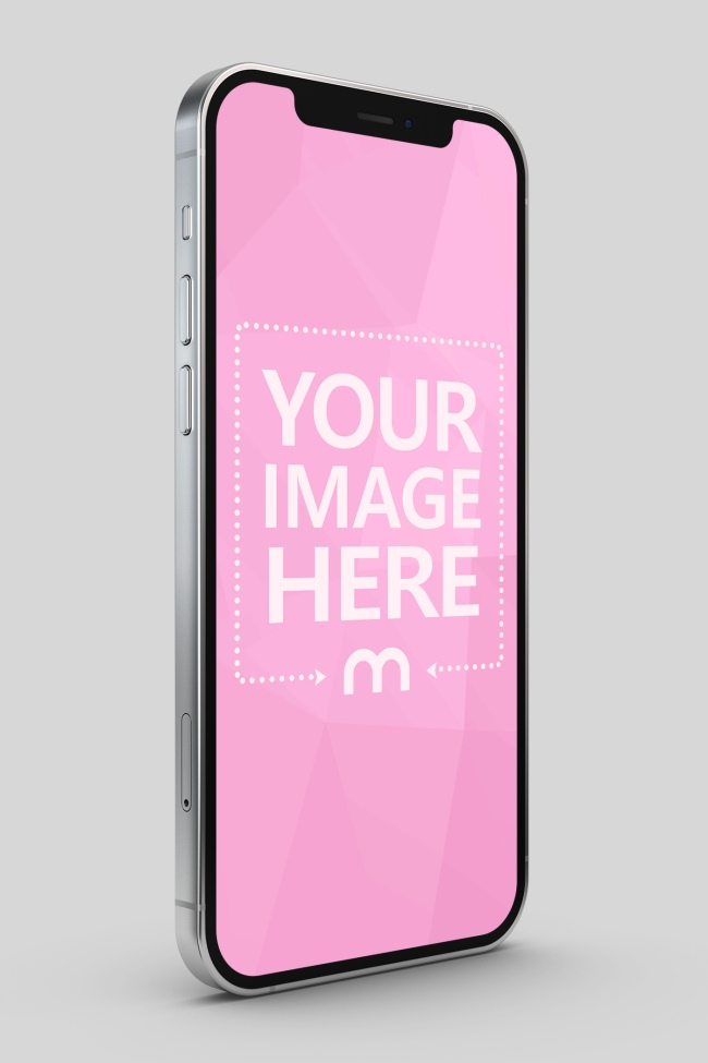 iPhone 12 Right Side Portrait Mockup preview image