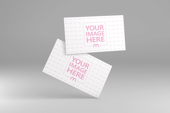 Business Cards Perspective View Mockup