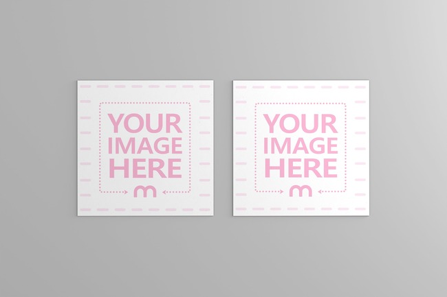 Square Business Card Mockup Generator preview image
