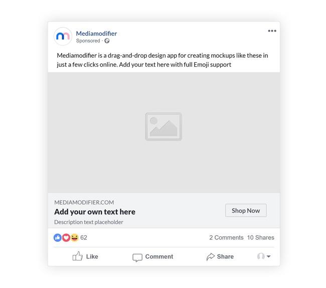 Facebook Sponsored Ad Post Mockup Generator preview image