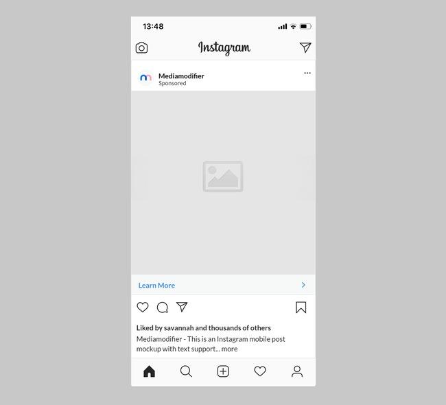 Instagram Sponsored Ad Mockup preview image