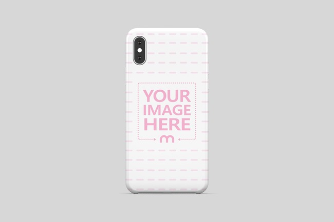 iPhone XS Case Back View Mockup