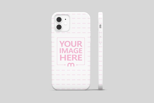 iPhone 12 Cover Back View Mockup