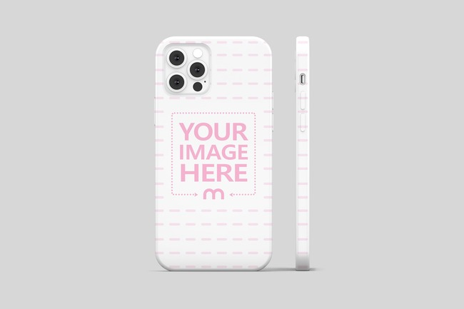 iPhone 12 Pro Cover Back View Mockup