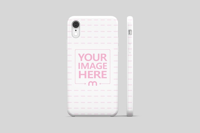 iPhone XS Cover Back View Mockup