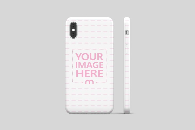 iPhone XR Cover Back View Mockup