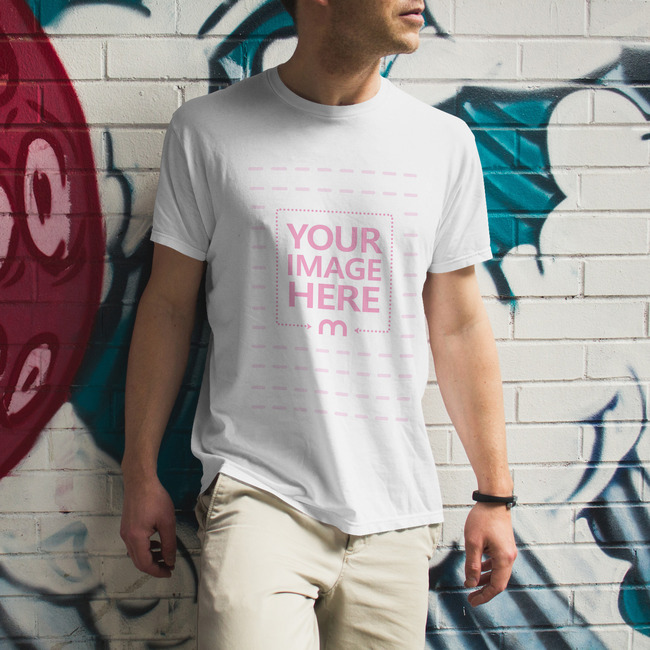 Cool Standing Man With Simple T-Shirt preview image