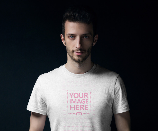 Stylish Man with His Shirt on a Dark atmosphere preview image