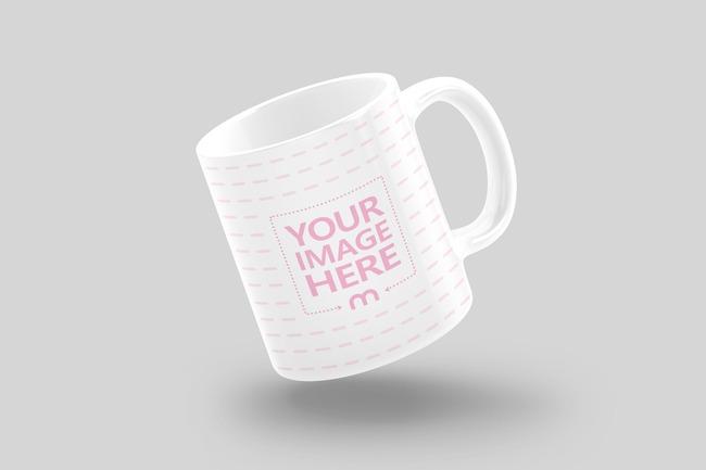 Floating Coffee Mug Mockup preview image