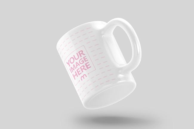 Floating 11oz Ceramic Mug Mockup