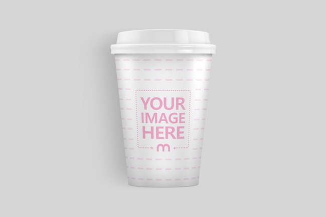 Lying 12oz Paper Coffee Cup Mockup preview image