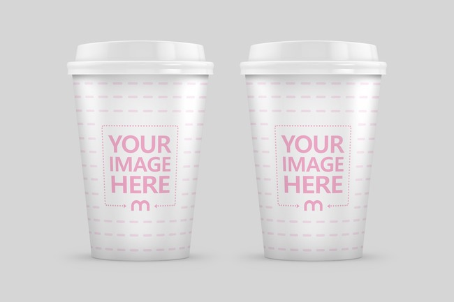 Double Coffee Cup Mockup preview image