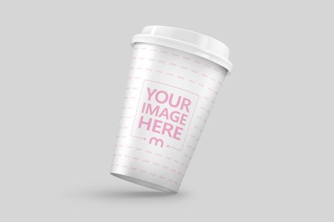 3D 12oz Paper Coffee Cup Mockup