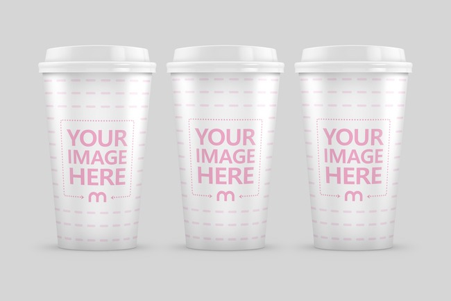 Triple Coffee Cup Mockup preview image