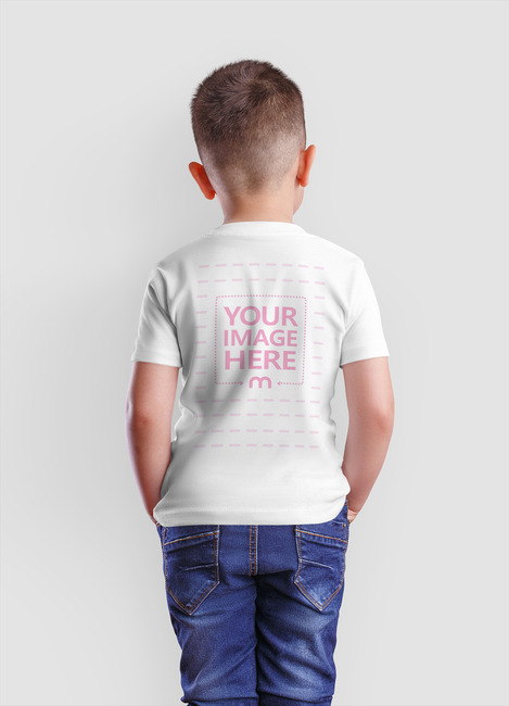 Back View T-Shirt of Young Boy preview image