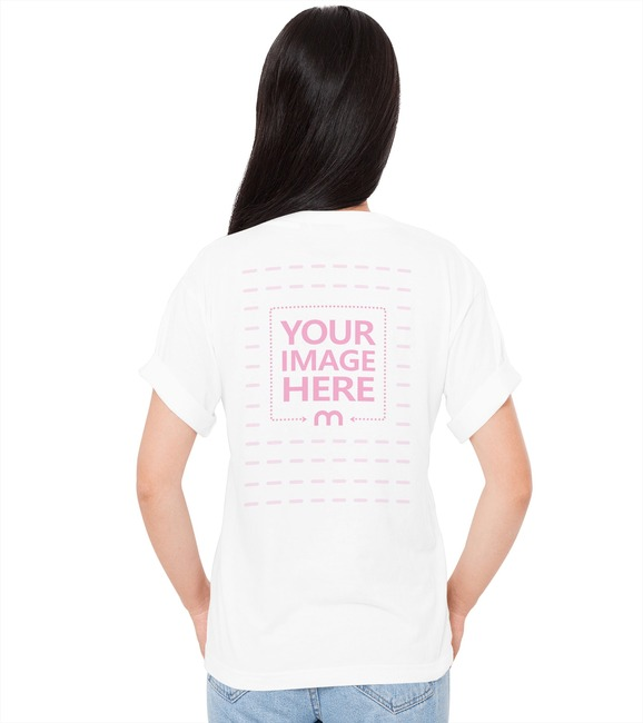 Back Side Shirt of a Young Woman With Straight Hair preview image