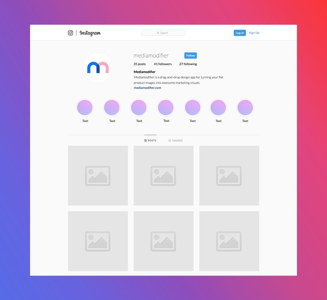 Instagram Profile and Highlights Mockup Generator preview image