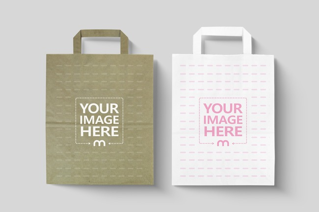 White and Brown Paper Bags Mockups preview image