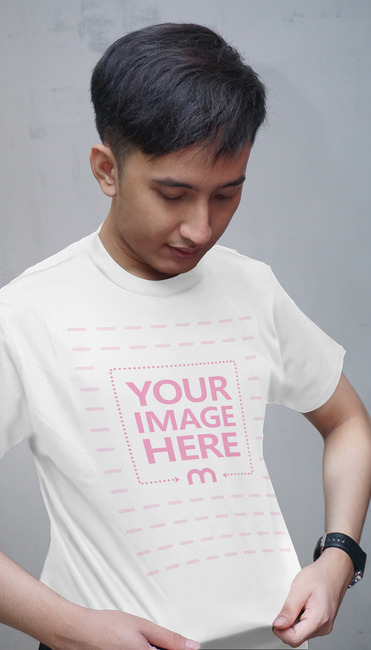 Young man Showing Off Shirt Design preview image
