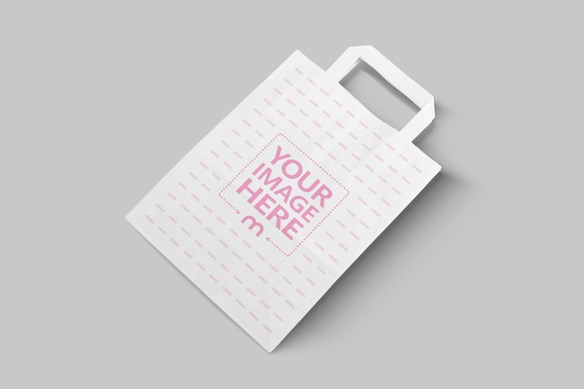 3D White Paper Bag Mockup Generator
