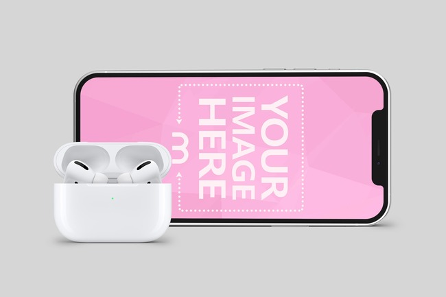 Landscape iPhone with Airpods preview image
