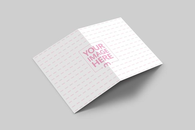 Bi Fold Brochure Mockup Generator