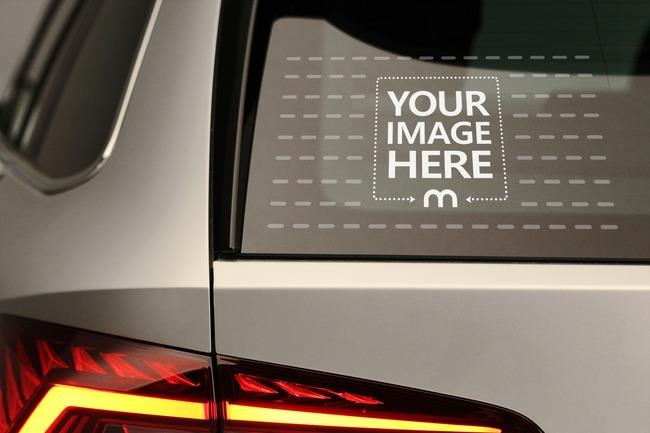 Car Window Decal Sticker Mockup