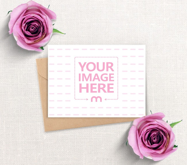 Landscape Wedding Card Mockup preview image