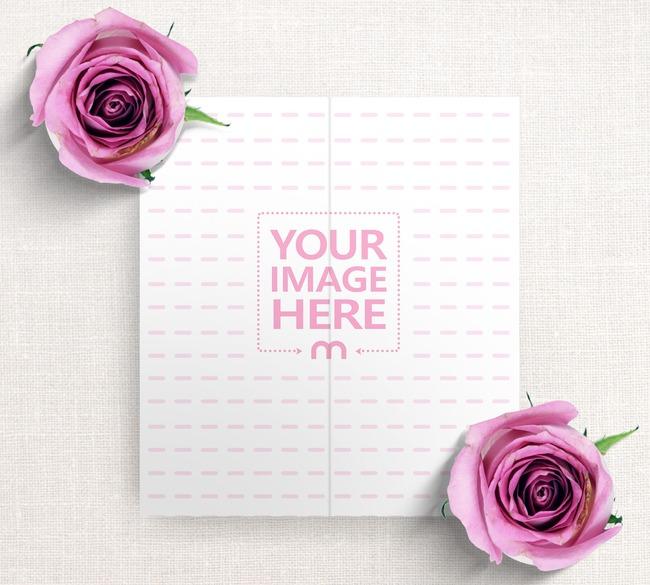 Wedding Program Booklet Mockup preview image