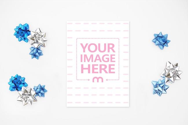 5x7 Vertical Christmas Card Mockup