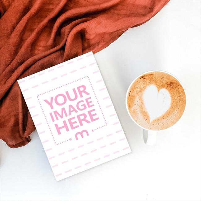 Greeting Card Next to Coffee Mug preview image