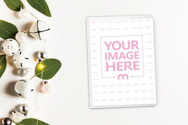Vertical 5x7 Christmas Invitation Card Mockup