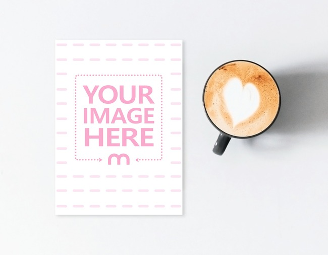 Greeting Card on Table Next to Coffee Mug preview image