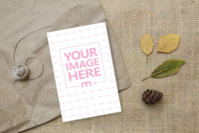 Postcard on Cloth Background  preview image