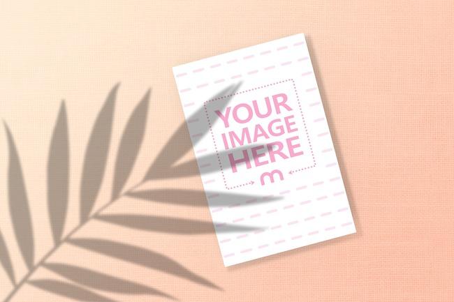 Greeting Card with Leaf Shadow