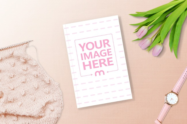 Girly Book Cover Mockup preview image