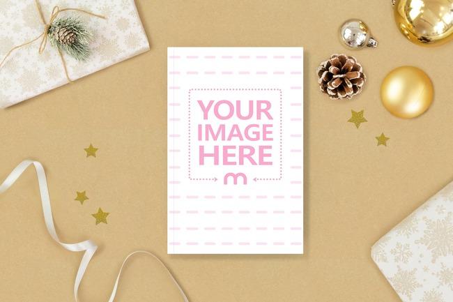 Christmas Gift Book Mockup