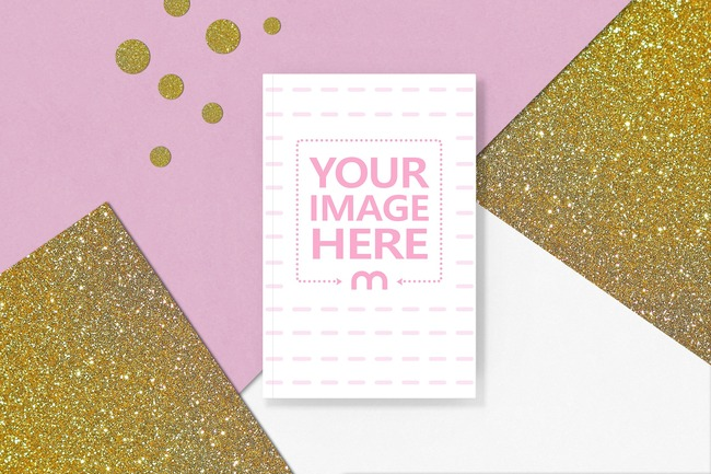 Book on Golden Glitter and Pink background preview image