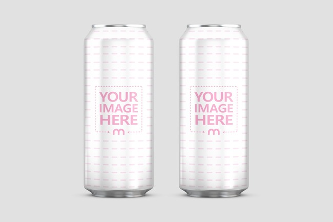 Double 19.2oz Aluminum Can Mockup preview image