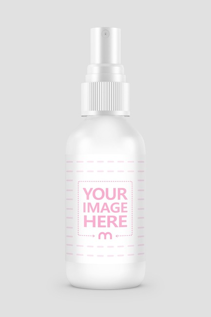 Plastic Spray Bottle Mockup Generator preview image
