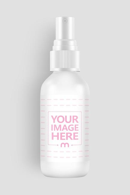 Lying Plastic Spray Bottle Mockup