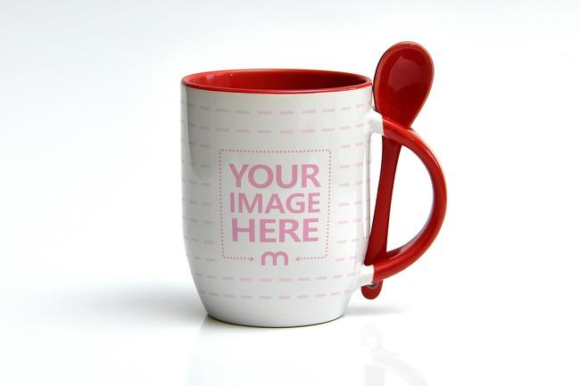Coffee Mug with Spoon Mockup preview image